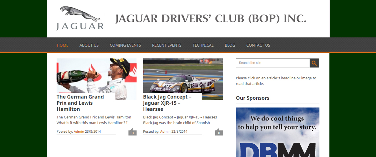 Website – Jaguar Drivers Club (BOP) Inc