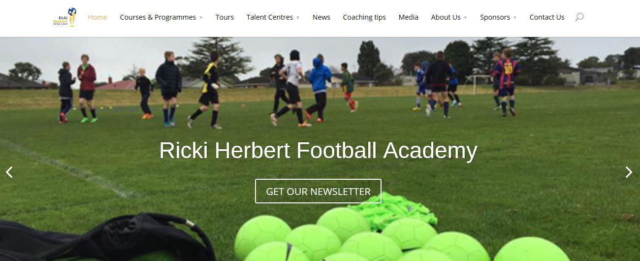 Website – Ricki Herbert Football Academy