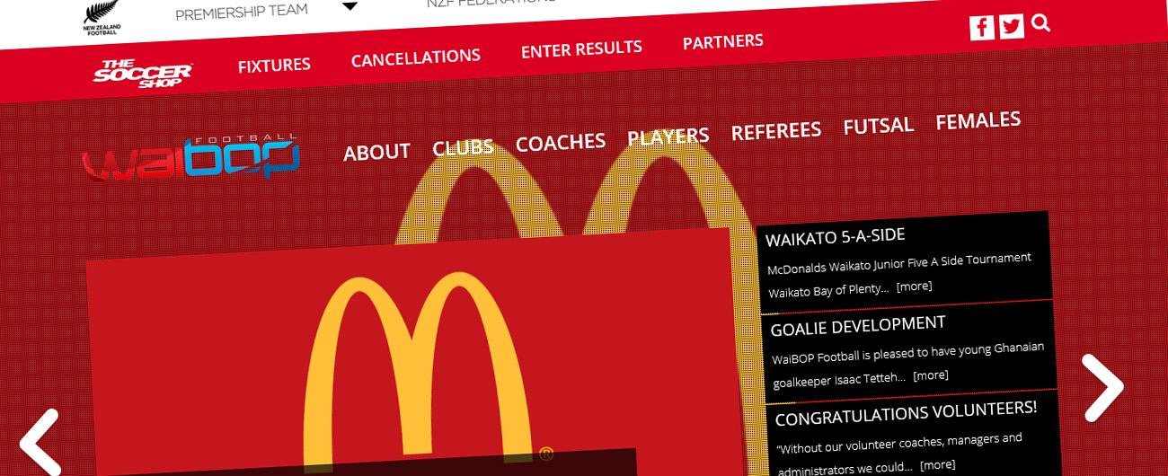Website – WaiBOP Football Federation
